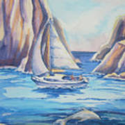 Cove Sailing Art Print