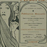Cover Page From Lestampe Moderne Art Print