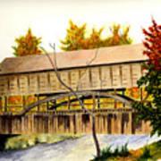 Covered Bridge - Mill Creek Park Art Print