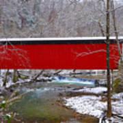 Covered Bridge Along The Wissahickon Creek Art Print