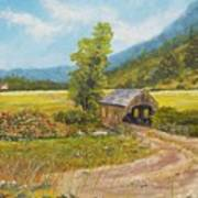 Covered Bridge At Little Creek Art Print