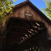 Covered Bridge In Woodstock Art Print