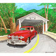 Covered Bridge Lincoln Art Print