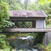 Covered Bridge Of Cedar Creek Art Print