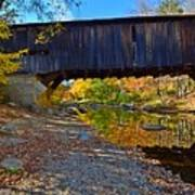 Covered Bridge Over The Cold River Art Print