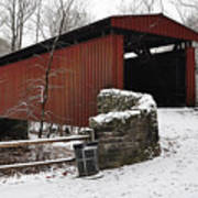 Covered Bridge Over The Wissahickon Creek Art Print by Bill Cannon