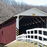 Covered Bridge Pa Art Print