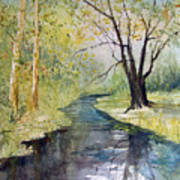Covered Bridge Park Art Print
