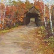 Covered Bridge  Southern Nh Art Print by Jack Skinner