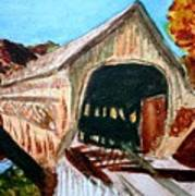 Covered Bridge Woodstock Vt Art Print