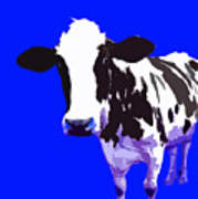 Cow In A Blue World Art Print