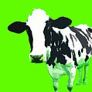 Cow In A Green World Art Print