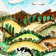 Cow Land Art Print