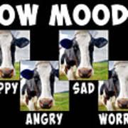Cow Moods Art Print
