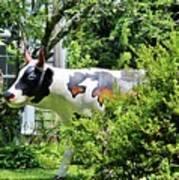 Cow Statue Art Print