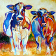 Cow Therapy Makes You Smile Art Print