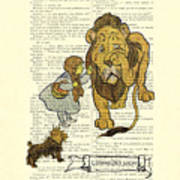 Cowardly Lion, The Wizard Of Oz Scene Art Print