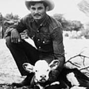 Cowboy, 20th Century Art Print