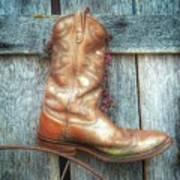 Cowboy Boot Rack Art Print