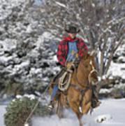 Cowboy Christmas Art Print