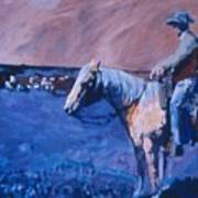 Cowboy Contemplation Art Print