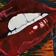 Cowboy Lips Art Print
