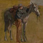 Cowboy - Study For Cowboys In The Badlands Art Print