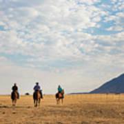 Cowboys On The Open Range Art Print