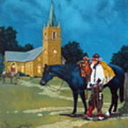 Cowboy's Prayer Art Print