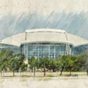 Cowboys Stadium Art Print