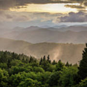 Cowee Mountains Sunset 2 Art Print