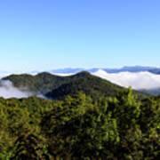 Cowee Overlook At Black Rock Mountain State Park Art Print