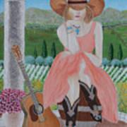 Cowgirl Attitude Art Print
