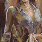Cowgirl Art Print by Nelya Shenklyarska