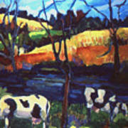 Cows In Landscape Art Print