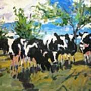 Cowscape Art Print