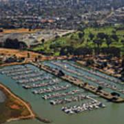 Coyote Point Marina San Francisco Bay Sfo California Art Print