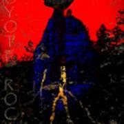 Coyote Rock Art Print