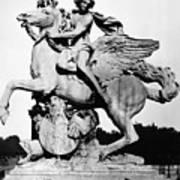 Coysevox: Mercury & Pegasus Art Print