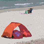 Cozy Hide-a-way For Two On A Florida Beach Art Print