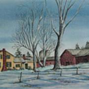 Cozy Winter Night Art Print