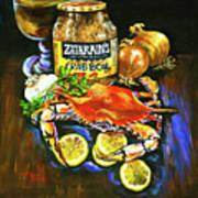 Crab Fixin's Art Print