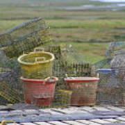 Crab Pots And Baskets Art Print