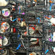 Crab Traps Art Print