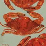 Crabs Tonight Art Print