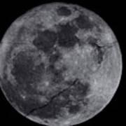Cracked Moon Art Print