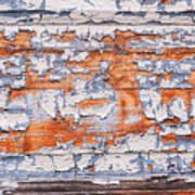 Cracked Wood Paint Art Print