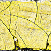 Cracked Yellow Paint Art Print