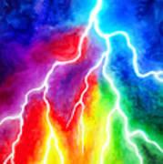Rainbow Color Lightning Art Print