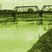 Crane At The River Art Print